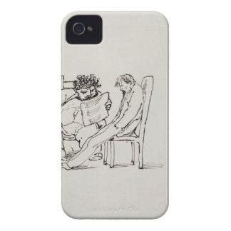 Dibujo animado de William Morris (1834-96) que lee Funda Para iPhone 4 De Case-Mate