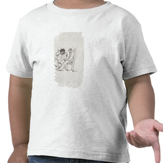 Dibujo animado de William Morris 1834-96 que lee Camiseta