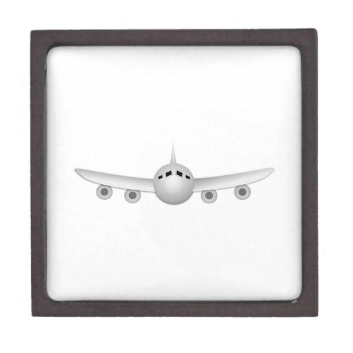 Dibujo animado del aeroplano cajas de joyas de calidad
