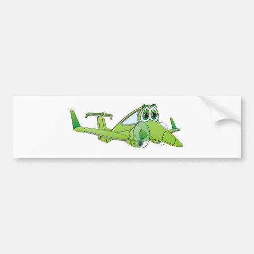 Dibujo animado del aeroplano pegatina de parachoque