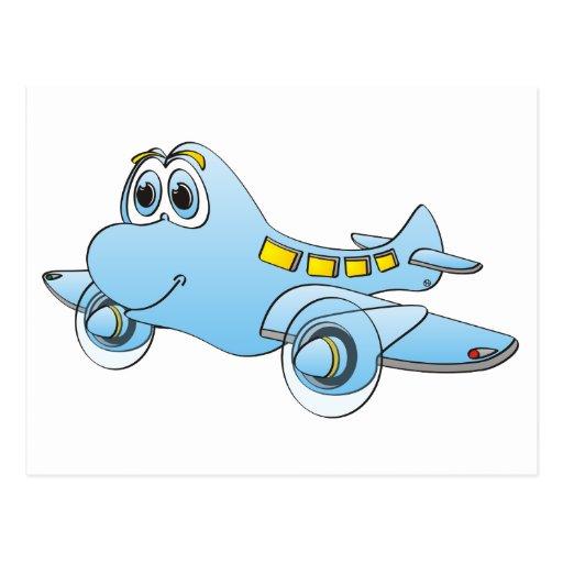 Dibujo animado del aeroplano postal