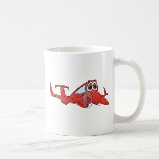Dibujo animado del aeroplano taza de café