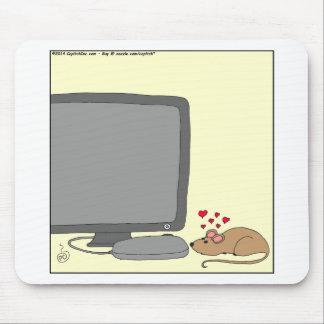 dibujo animado del amor de 640 ratones alfombrillas de ratón