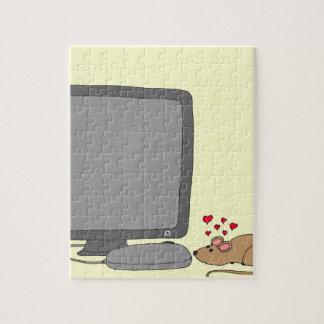 dibujo animado del amor de 640 ratones puzzles con fotos