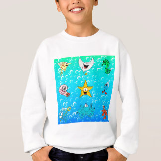 Dibujo animado del animal de mar sudadera