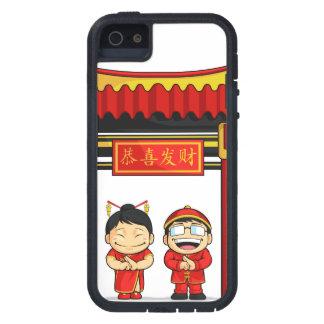Dibujo animado del Año Nuevo chino de saludo del m iPhone 5 Protectores