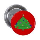 Dibujo animado del árbol de navidad pins