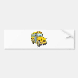 Dibujo animado del autobús escolar pegatina para auto