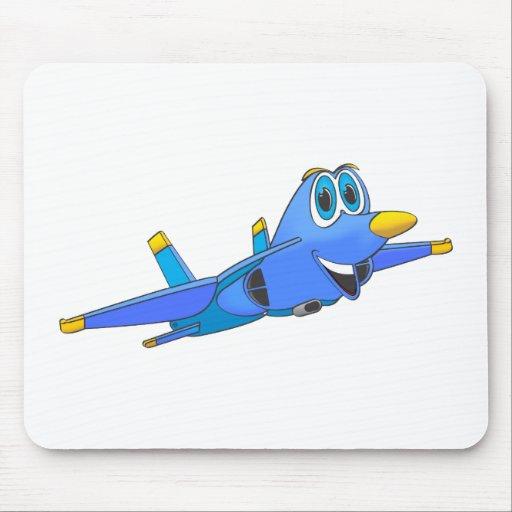 dibujo animado del avión de combate mousepad