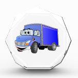 Dibujo animado del azul del camión de reparto