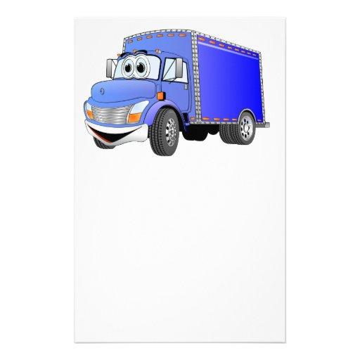 Dibujo animado del azul del camión de reparto papeleria de diseño