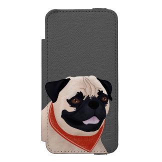 Dibujo animado del barro amasado funda billetera para iPhone 5 watson