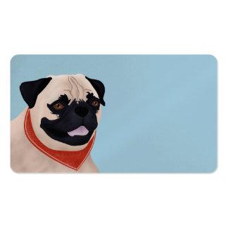 Dibujo animado del barro amasado tarjetas de visita