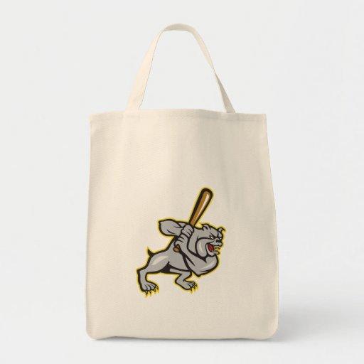 Dibujo animado del bateo del bateador del béisbol  bolsa tela para la compra