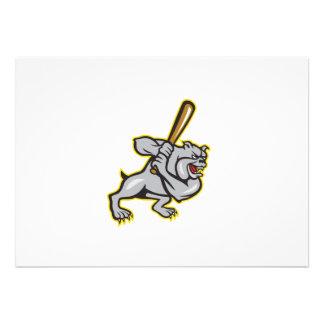 Dibujo animado del bateo del bateador del béisbol  invitaciones personales