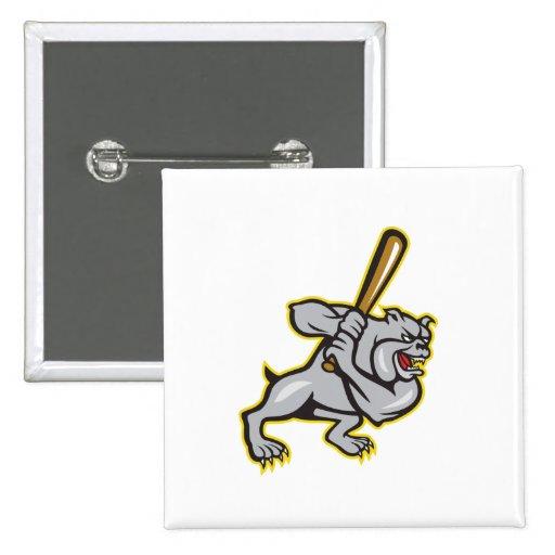 Dibujo animado del bateo del bateador del béisbol  pin