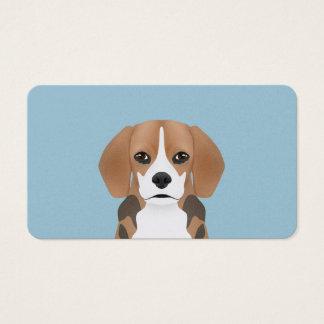 Dibujo animado del beagle tarjetas de visita