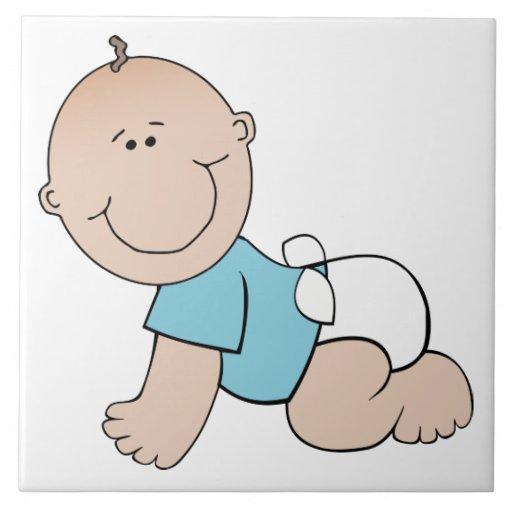 Dibujo animado del bebé azulejo cerámica