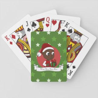Dibujo animado del bebé del navidad cartas de juego