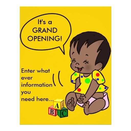 """Dibujo animado del bebé para personalizar - el avi folleto 8.5"""" x 11"""""""