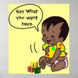 Dibujo animado del bebé para personalizar - el pos