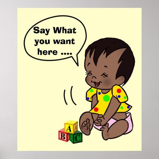 Dibujo animado del bebé para personalizar - el póster