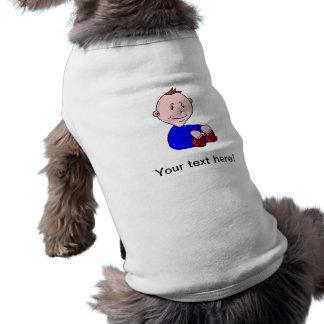 Dibujo animado del bebé playera sin mangas para perro