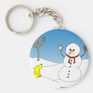 dibujo animado del béisbol del muñeco de nieve X12 Llaveros