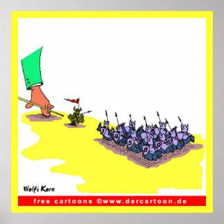 Dibujo animado del billar de Wolfi Korn Posters