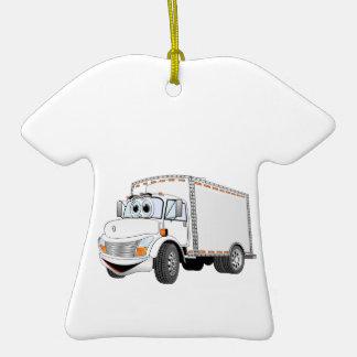 Dibujo animado del blanco del camión de reparto adorno para reyes