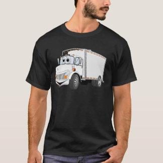 Dibujo animado del blanco del camión de reparto playera