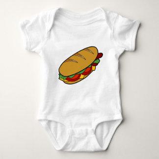 Dibujo animado del bocadillo submarino mameluco de bebé