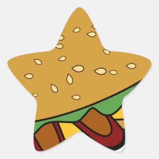 Dibujo animado del bocadillo submarino pegatina en forma de estrella