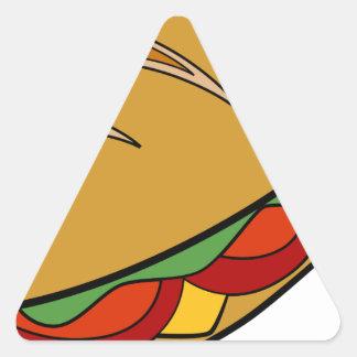 Dibujo animado del bocadillo submarino pegatina triangular