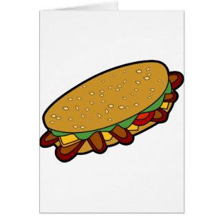 Dibujo animado del bocadillo submarino tarjeta de felicitación