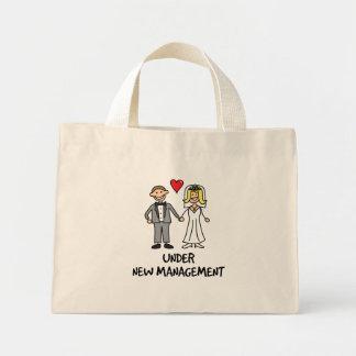 Dibujo animado del boda - bajo nueva gestión bolsa tela pequeña