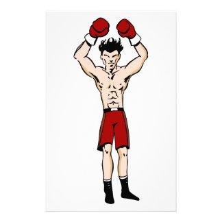 Dibujo animado del boxeador papelería