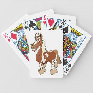 Dibujo animado del caballo del Pinto Cartas De Juego