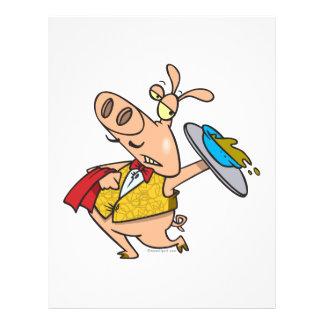 dibujo animado del camarero del slop del cerdo de  flyer a todo color