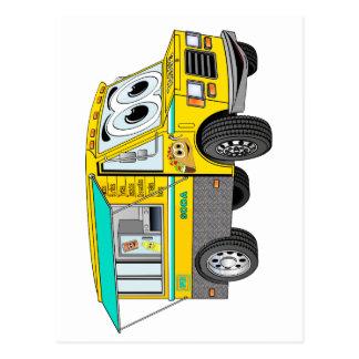 Dibujo animado del camión de la comida del Taco Postal