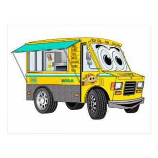 Dibujo animado del camión de la comida del Taco Postales