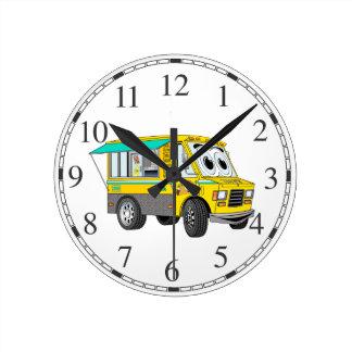 Dibujo animado del camión de la comida del Taco Relojes De Pared