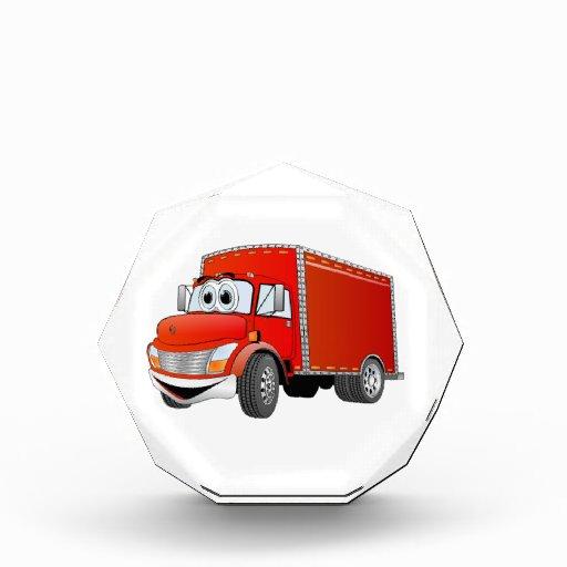 Dibujo animado del camión de reparto (color)