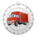 Dibujo animado del camión de reparto (color) tablero de dardos
