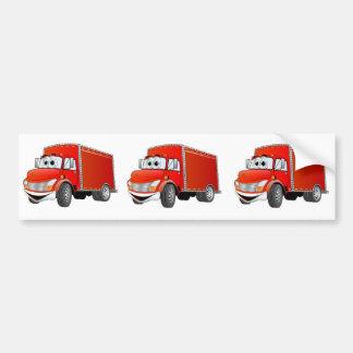 Dibujo animado del camión de reparto (color) pegatina para auto