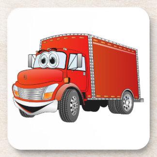 Dibujo animado del camión de reparto (color) posavasos