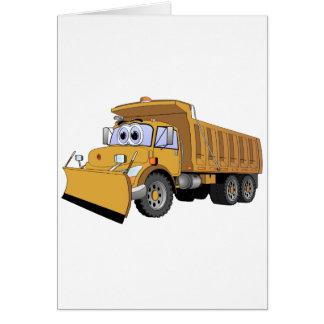 Dibujo animado del camión volquete de Brown Tarjetón