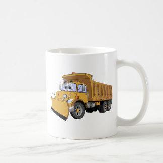 Dibujo animado del camión volquete de Brown Taza De Café