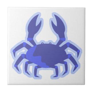 Dibujo animado del cangrejo azul azulejo cuadrado pequeño