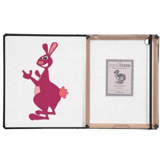 Dibujo animado del canguro iPad funda